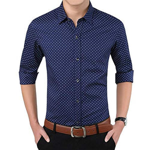 Romano nx Men's Cotton Casual Shirt in 6 Colors romanonx.com Best Blue L