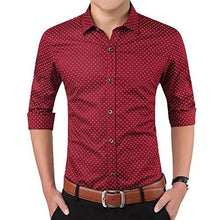 Load image into Gallery viewer, Romano nx Men's Cotton Casual Shirt in 6 Colors romanonx.com Bright Red L