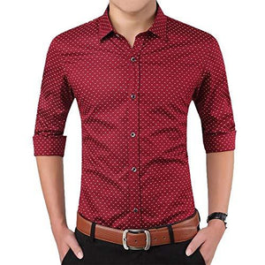 Romano nx Men's Cotton Casual Shirt in 6 Colors romanonx.com Bright Red L