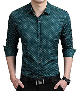 Romano nx Men's Cotton Casual Shirt in 6 Colors romanonx.com Green L