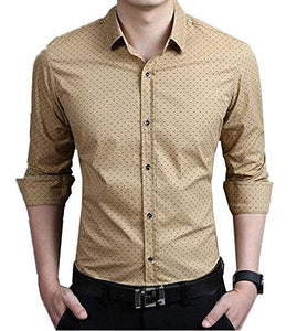 Romano nx Men's Cotton Casual Shirt in 6 Colors romanonx.com Khakhi L