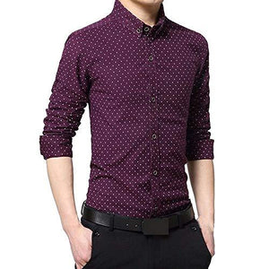 Romano nx Men's Cotton Casual Shirt in 6 Colors romanonx.com Purple L