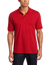 Load image into Gallery viewer, Romano nx Men's Polo T-Shirt with Pocket in 55 Colors Apparel Romano Real Red 3XL