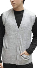 Load image into Gallery viewer, Romano nx Men's Sleeveless Sweater in 13 Colors romanonx.com Light Grey Heather L