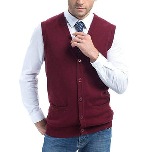 Romano nx Men's Sleeveless Sweater in 13 Colors romanonx.com Maroon L