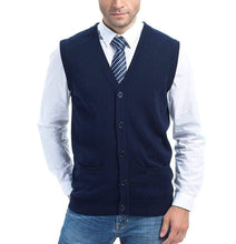 Load image into Gallery viewer, Romano nx Men's Sleeveless Sweater in 13 Colors romanonx.com Navy Blue L
