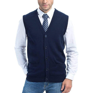 Romano nx Men's Sleeveless Sweater in 13 Colors romanonx.com Navy Blue L
