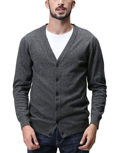 Romano nx Mens Solid Woollen Sweater in 10 Colors romanonx.com Charcoal L