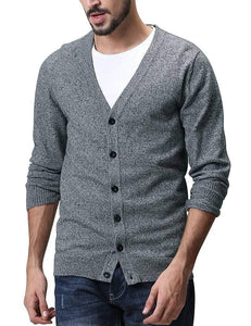 Romano nx Mens Solid Woollen Sweater in 10 Colors romanonx.com Dark Grey Heather L