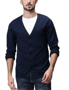 Romano nx Mens Solid Woollen Sweater in 10 Colors romanonx.com Navy Blue L