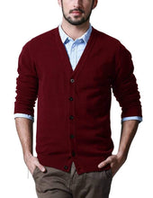Load image into Gallery viewer, Romano nx Mens Solid Woollen Sweater in 10 Colors romanonx.com Red L