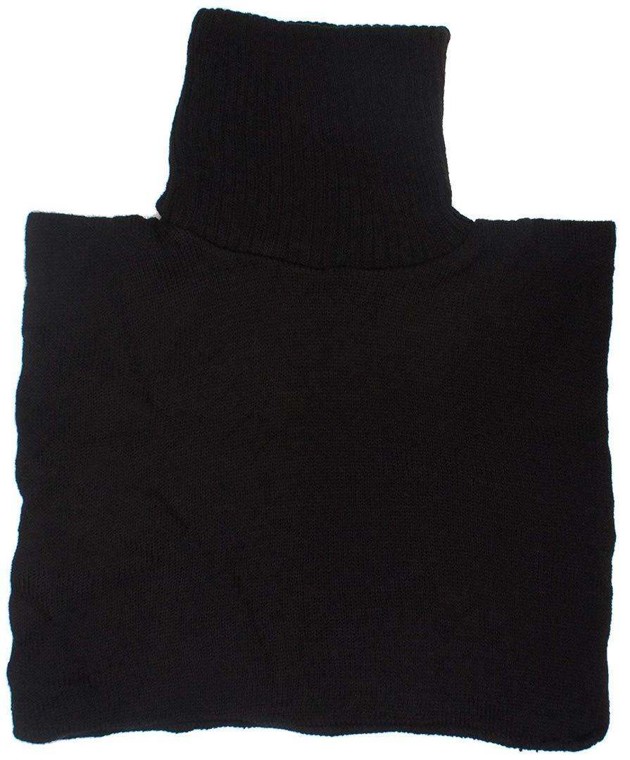 Romano nx Men's Wool Neck Warmer Cover in 5 Colors Apparel Romano Black