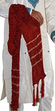 Load image into Gallery viewer, Romano nx Men's Zari Embroidered Red Sherwani Stole Dupatta Apparel Romano