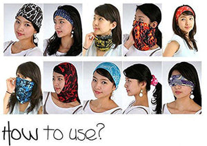 Romano nx Multi functional Stylish Unisex Bandana Headband (Multicolour) romanonx.com