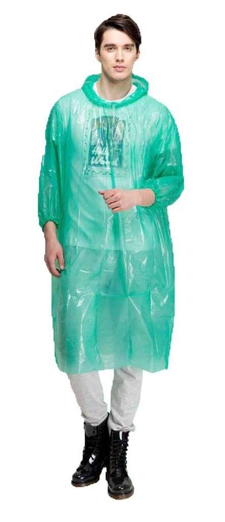 Romano nx PVC Waterproof Reusable Rain Ponchos Raincoat Rainwear Hooded Camping romanonx.com