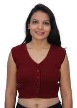 Load image into Gallery viewer, Romano nx Sleeveless Wool Warm Winter Saree Blouse for Women romanonx.com