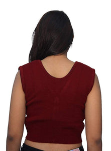 Romano nx Sleeveless Wool Warm Winter Saree Blouse for Women romanonx.com