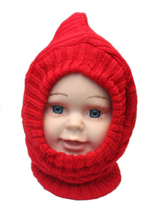 Romano nx Soft Woollen Monkey Cap for Kids in 14 Colors romanonx.com Basic Red