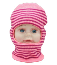 Load image into Gallery viewer, Romano nx Soft Woollen Monkey Cap for Kids in 14 Colors romanonx.com Stripes Pink