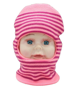 Romano nx Soft Woollen Monkey Cap for Kids in 14 Colors romanonx.com Stripes Pink