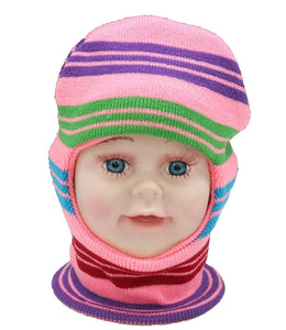 Romano nx Soft Woollen Monkey Cap for Kids in 14 Colors romanonx.com Stripes Pink A
