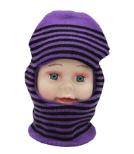 Load image into Gallery viewer, Romano nx Soft Woollen Monkey Cap for Kids in 14 Colors romanonx.com Stripes Purple