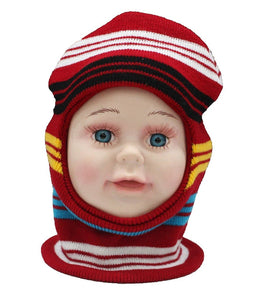 Romano nx Soft Woollen Monkey Cap for Kids in 14 Colors romanonx.com Stripes Red