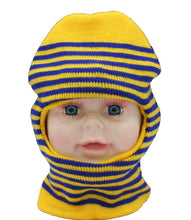 Load image into Gallery viewer, Romano nx Soft Woollen Monkey Cap for Kids in 14 Colors romanonx.com Stripes Yellow