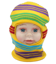 Load image into Gallery viewer, Romano nx Soft Woollen Monkey Cap for Kids in 14 Colors romanonx.com Stripes Yellow A