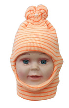 Load image into Gallery viewer, Romano nx Soft Woollen Monkey Cap for Kids in 14 Colors romanonx.com White Pearl Orange