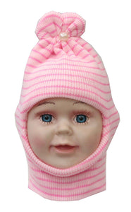 Romano nx Soft Woollen Monkey Cap for Kids in 14 Colors romanonx.com White Pearl Pink