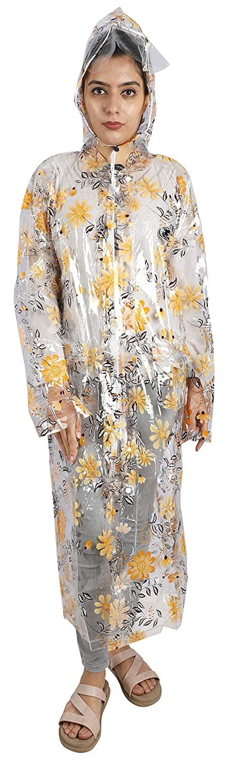 Romano nx Waterproof Lovely Printed Rain Overcoat for Women romanonx.com