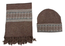 Load image into Gallery viewer, Romano nx Women's 100% Wool Winter Cap Muffler Combo in 4 Colors romanonx.com Brown