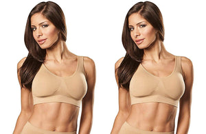 Romano nx Women's 2-Pack Seamless Wireless Sports Bra with Removable Pads romanonx.com