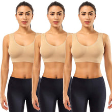 Load image into Gallery viewer, Romano nx Women's 3-Pack Seamless Wireless Sports Bra with Removable Pads romanonx.com