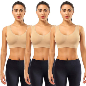 Romano nx Women's 3-Pack Seamless Wireless Sports Bra with Removable Pads romanonx.com
