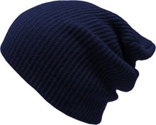 Load image into Gallery viewer, Romano nx Women's Beanie Cap in 22 Colors romanonx.com Navy Blue C