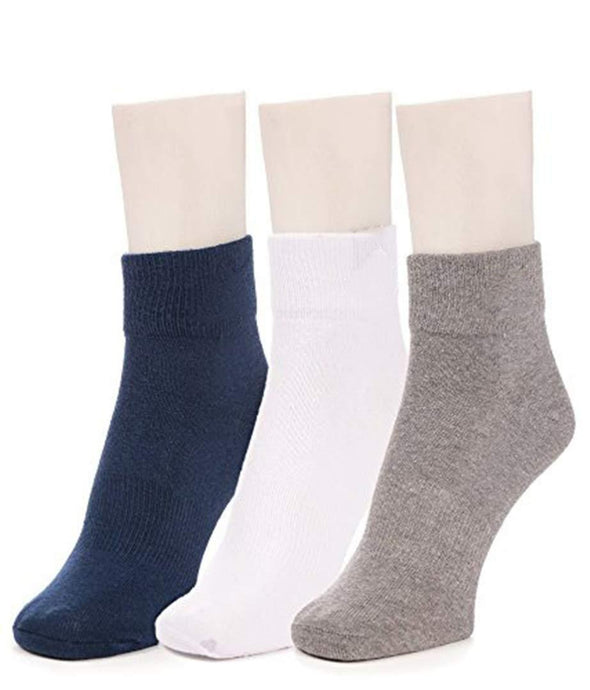Romano nx Women's Cotton Ankle Socks Pack of 3 in 14 Colors Apparel Romano AST1