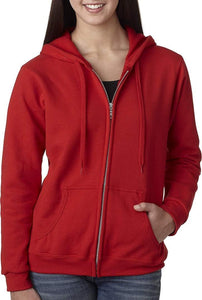 Romano nx Women's Cotton Hooded Sweatshirt in 6 Colors romanonx.com Red 3XL