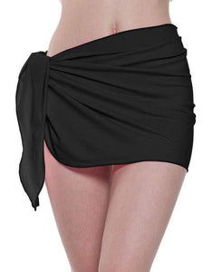 Romano nx Women's Solid Wrap Around Swim Skirt in 8 Colors romanonx.com Awesome Black