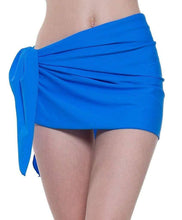 Load image into Gallery viewer, Romano nx Women's Solid Wrap Around Swim Skirt in 8 Colors romanonx.com Hot Royal
