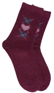 Romano nx Women's Woollen Socks in 5 Colors romanonx.com Wine