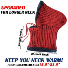 Load image into Gallery viewer, Romano nx Wool Cap Neck Warmer Face Mask for Winter in 3 Colors Apparel Romano