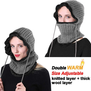 Romano nx Wool Cap Neck Warmer Face Mask for Winter in 3 Colors Apparel Romano