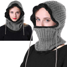 Load image into Gallery viewer, Romano nx Wool Cap Neck Warmer Face Mask for Winter in 3 Colors Apparel Romano Grey