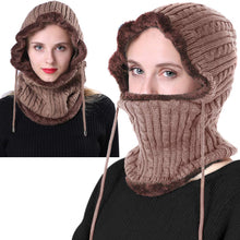 Load image into Gallery viewer, Romano nx Wool Cap Neck Warmer Face Mask for Winter in 3 Colors Apparel Romano Khaki