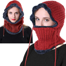 Load image into Gallery viewer, Romano nx Wool Cap Neck Warmer Face Mask for Winter in 3 Colors Apparel Romano Red