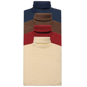 Romano nx Woolen Neck Warmer for Men (Pack of 4) Apparel Romano Navy Brown Red Cream