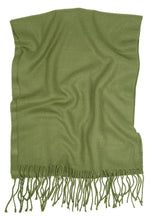 Load image into Gallery viewer, Romano nx Woolen Winter Muffler for Men in 26 Colors romanonx.com Olive Green