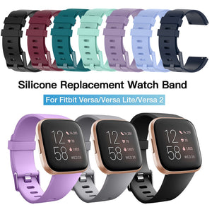 Soft Silicone Wrist Waterproof Replacement Watch Strap For Fitbit Versa/Versa 2
